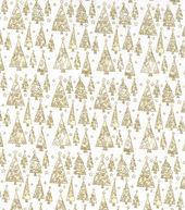Christmas Cotton Fabric 43inches-Metallic Triangle Christmas Trees