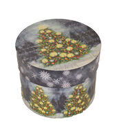 Makers Holiday Large Round Box-Christmas Tree