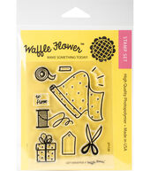 Waffle Flower Crafts 9 pk Clear Stamps 3x4-Gift Wrapper
