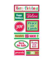 Sandylion Dimensional Stickers-Christmas Words