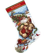 Dimensions Gold Collection Santas Journey Stocking Cntd X-Stitch Kit