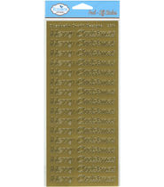 Elizabeth Craft Designs Merry Christmas Peel Off Sticker Large - Gold