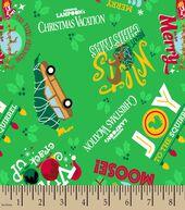 National Lampoons Christmas Vacation Print Fabric