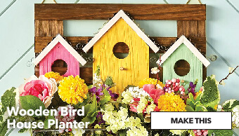 Wooden Bird House Planter. Make This.