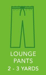 Mens Lounge Pants 2 to 3 yards.