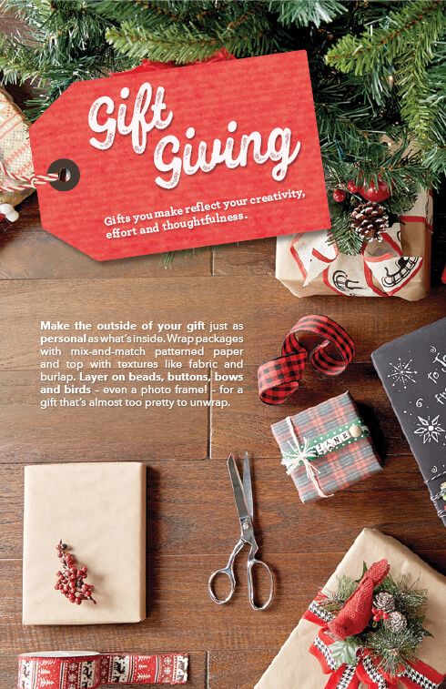 Gift Giving Projects.