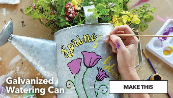 How To Decorate A Galvanized Watering Can. Make This.