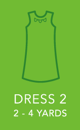 Womens Dress 2 2 to 4 yards.