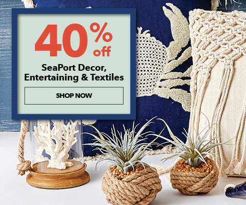 40% off Seaport Decor, Entertaining, and Textiles. Shop Now.