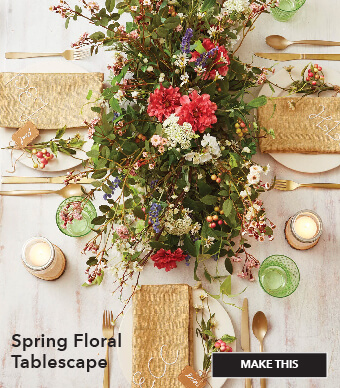Spring Floral Tablescape. Make This.