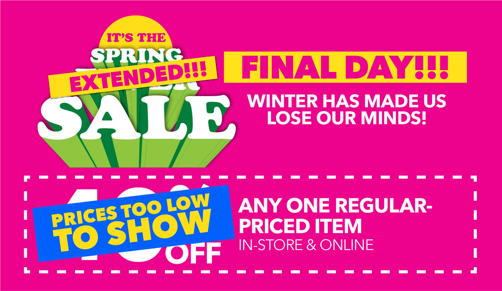 Spring Savings Days! 5 Great coupons end tomorrow!