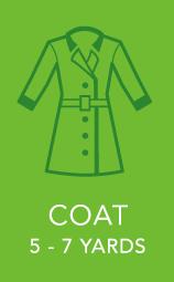 Womens Coat 5 to 7 yards.
