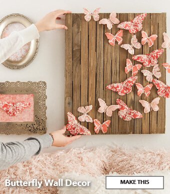 Butterfly Wall Decor. Make This.