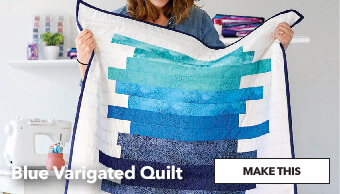 How to Make a Blue Varigated Quilt. Make This.