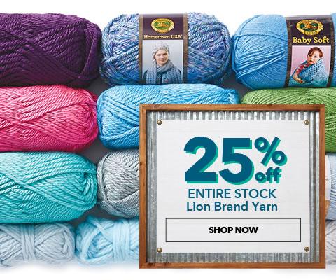 25% Lion Brand Yarn. Shop Now.