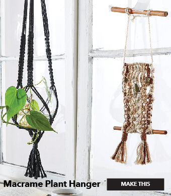 How to make a Macrame Plant Hanger. Make This.