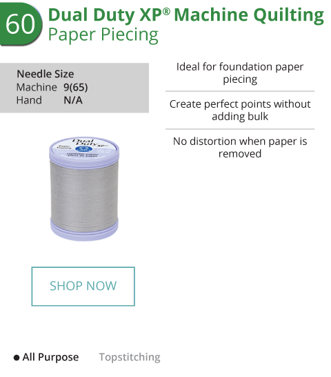 Dual Duty XP Machine Quilting - Paper Piecing