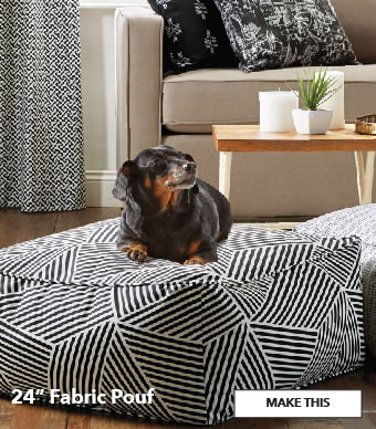24 inch Fabric Pouf. Make This.