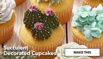 How To Make Succulent Decorated Cupcakes. Make This.