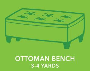 Ottoman Bench. 3-4 Yards.