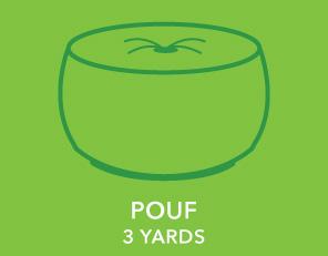 Pouf. 3 Yards.