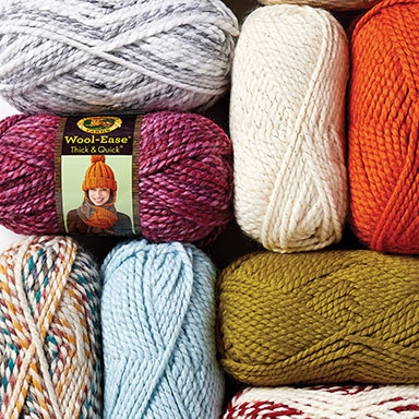 6.99 ea Lion Brand Wool-Ease® Thick & Quick® Yarns