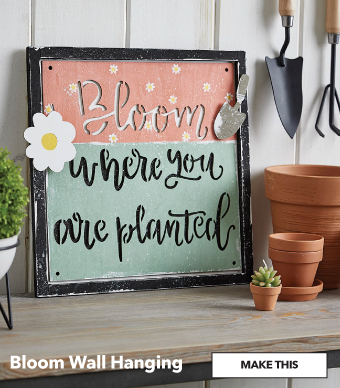 How to Make a Bloom Wall Hanging. Make This.