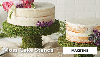 Moss Cake Stands. Make This.