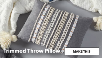 Trimmed Throw Pillow. Make This.