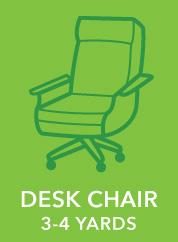 Desk Chair. 3-4 Yards.