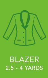 Womens Blazer 2.5 to 4 Yards.