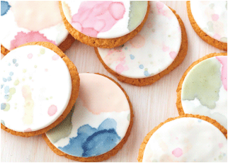 Watercolor Cookie Painting.