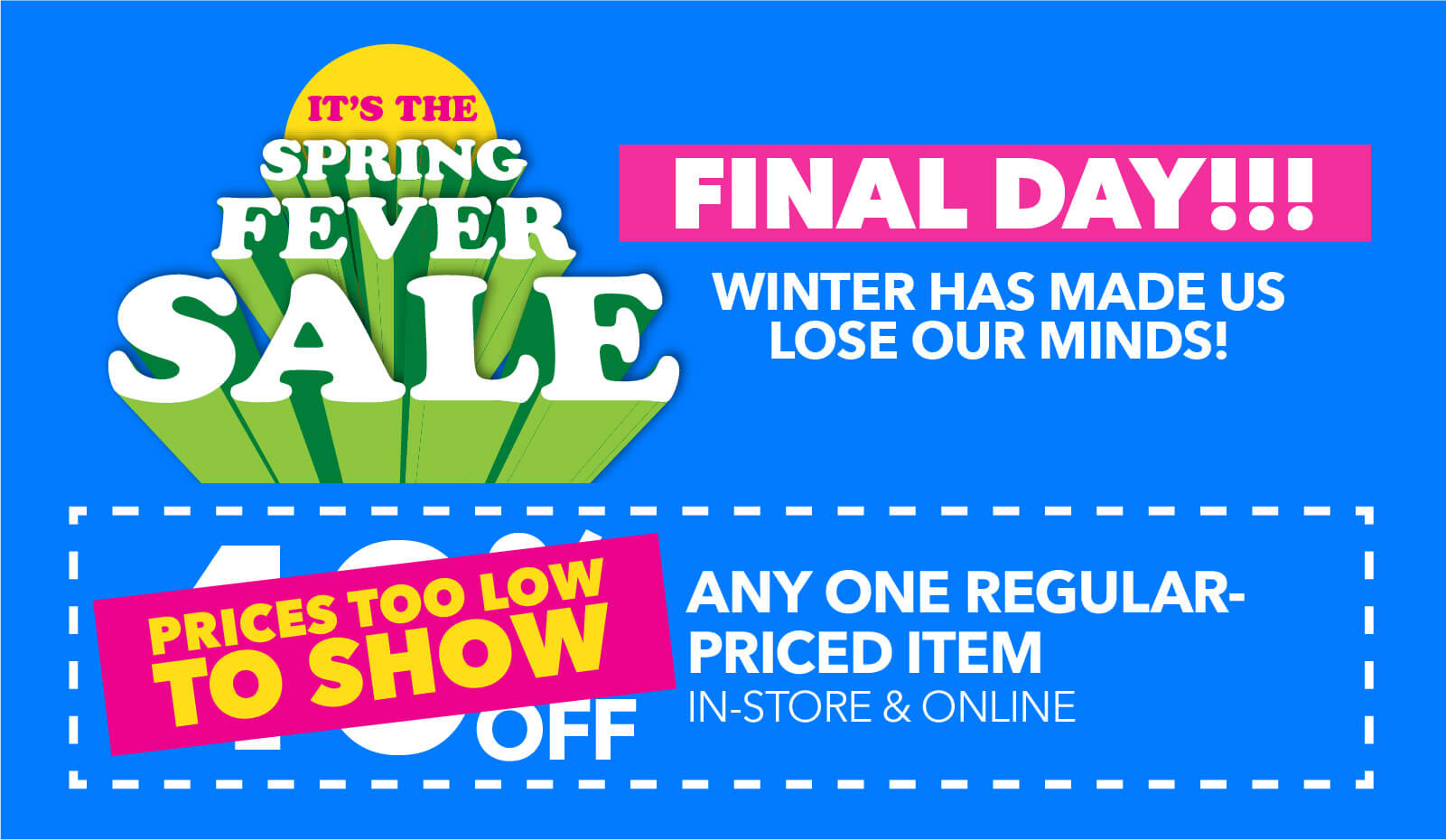 Spring Savings Days! 5 Great coupons end today!