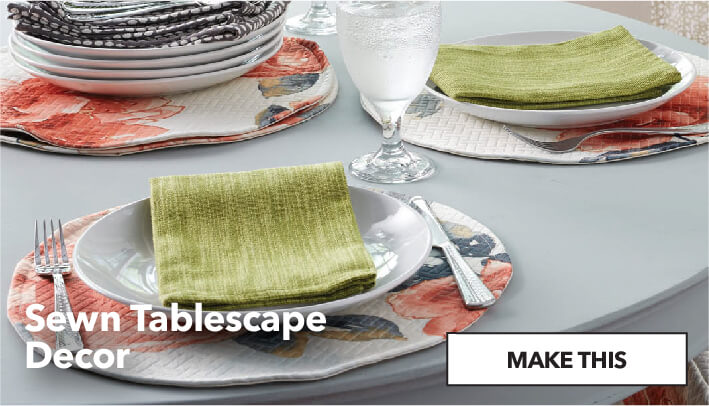 Sewn Tablescape Decor. Make This.