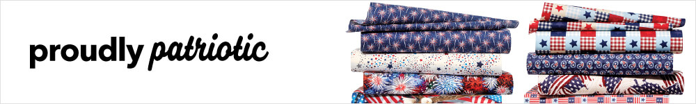 Show your civic pride & create patriotic projects with fabrics available at joann.com and JOANN fabric & Craft Stores