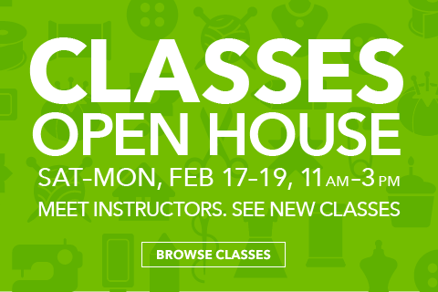 Classes Open House. Feb 17 - Feb 19 from 11am - 3pm