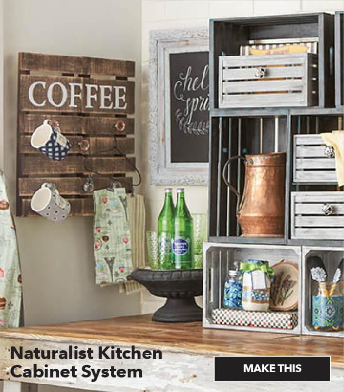 Naturalist Kitchen Cabinet System. Make This.