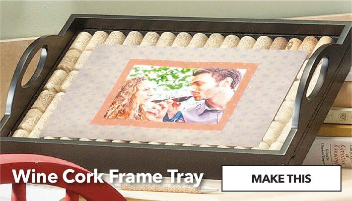 Wine Cork Frame Tray. Make This.