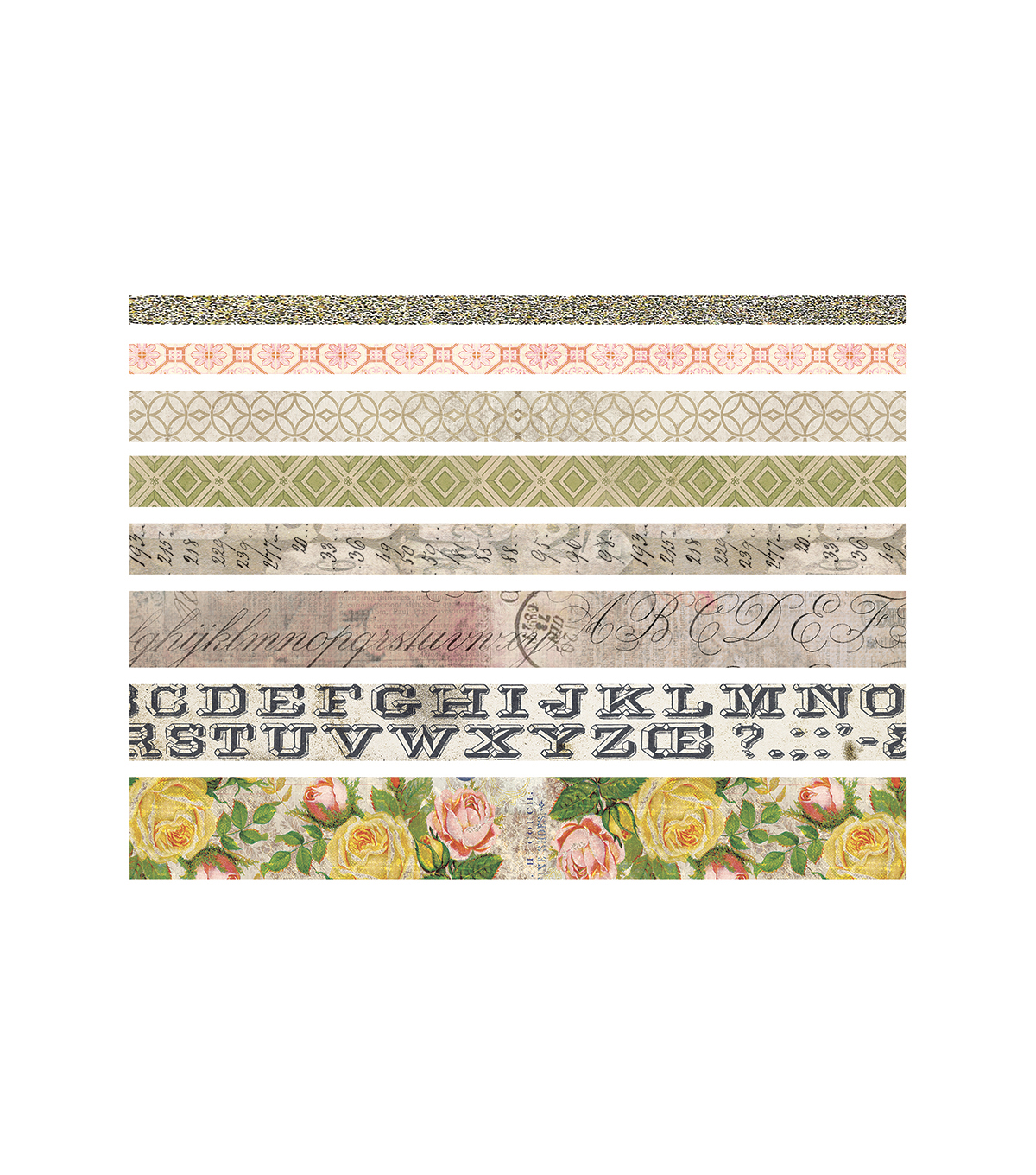 Tim Holtz® Idea-ology® Pack of 8 Design Tape-Rose