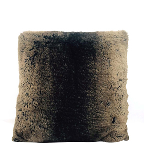 Faux Fur Pillow Ombra Brown