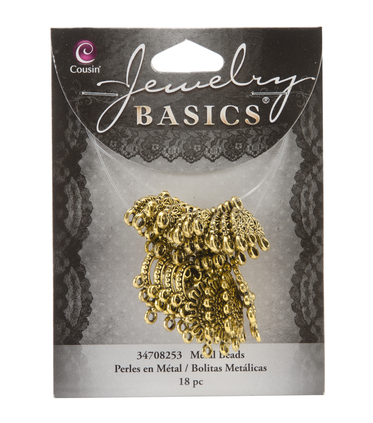 Jewelry Basics Metal Connector Mix 18/Pkg-Gold