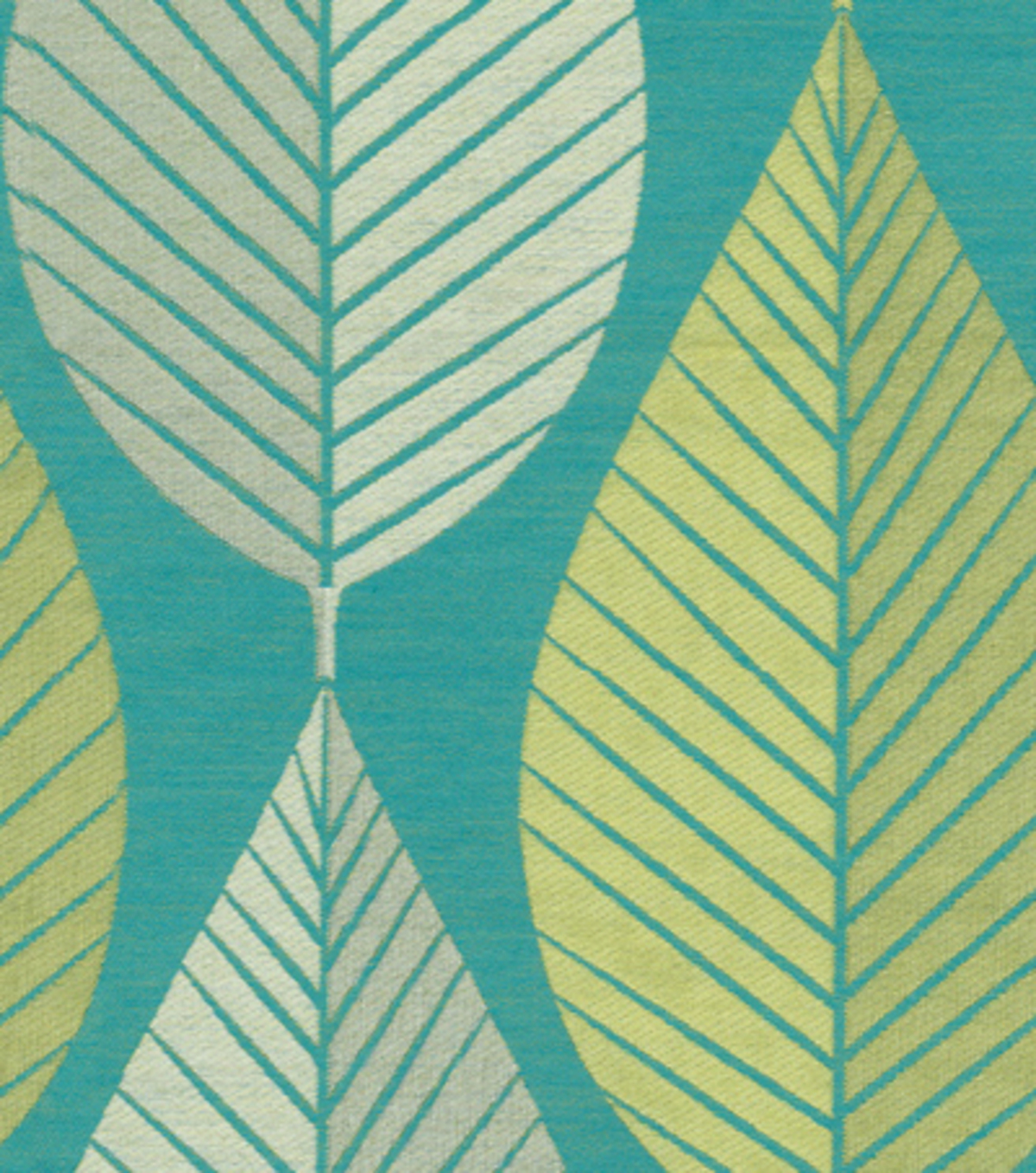 HGTV Home Upholstery Fabric-Looseleaf/Turquioise