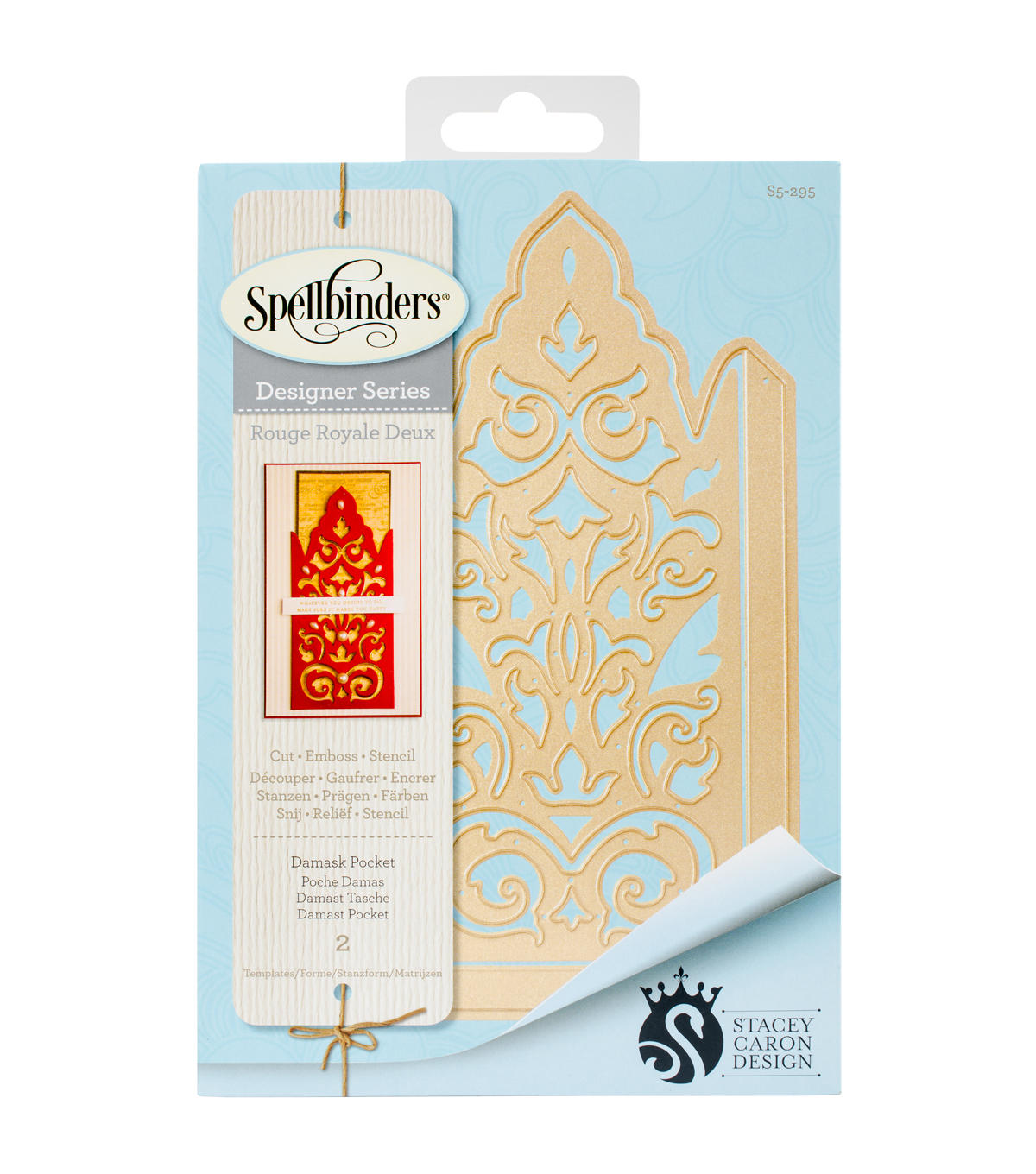 Spellbinders® Shapeabilities® 2 Pack Etched Dies-Damask Pocket