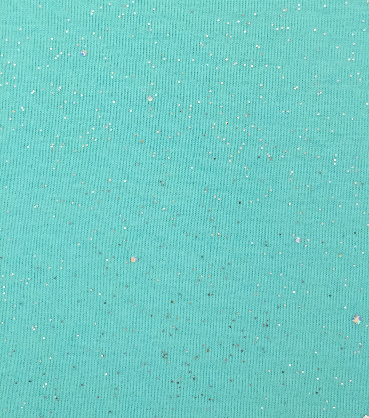 Doodles® Jersey Fabric 57\u0022-Turquoise Glitter