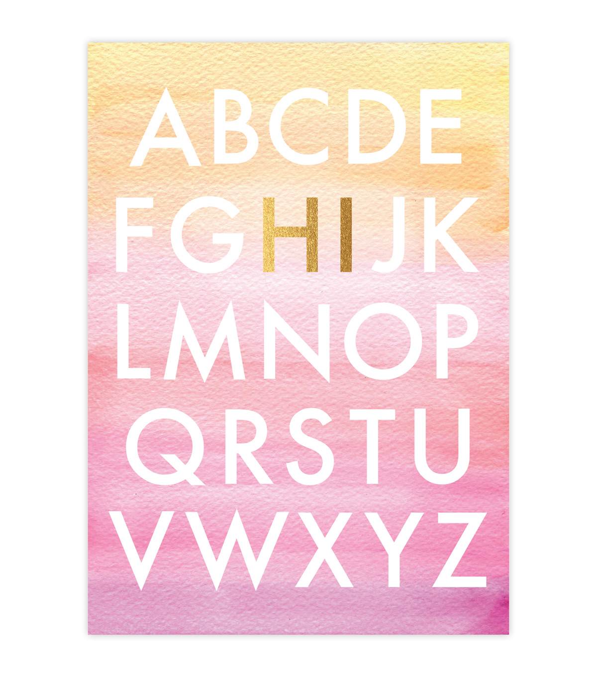 Creative Girl Watercolor Cards Alphabet 6Pk