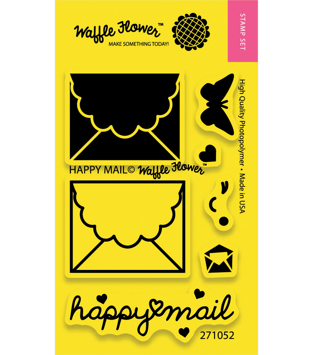 Happy Mail-clear Stamps 2x3