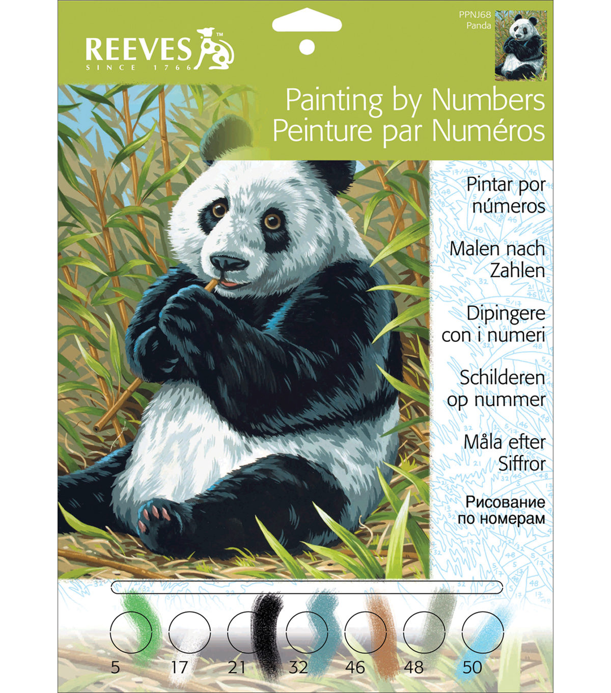 "Junior Paint By Number Kits 9""X12""-Panda"