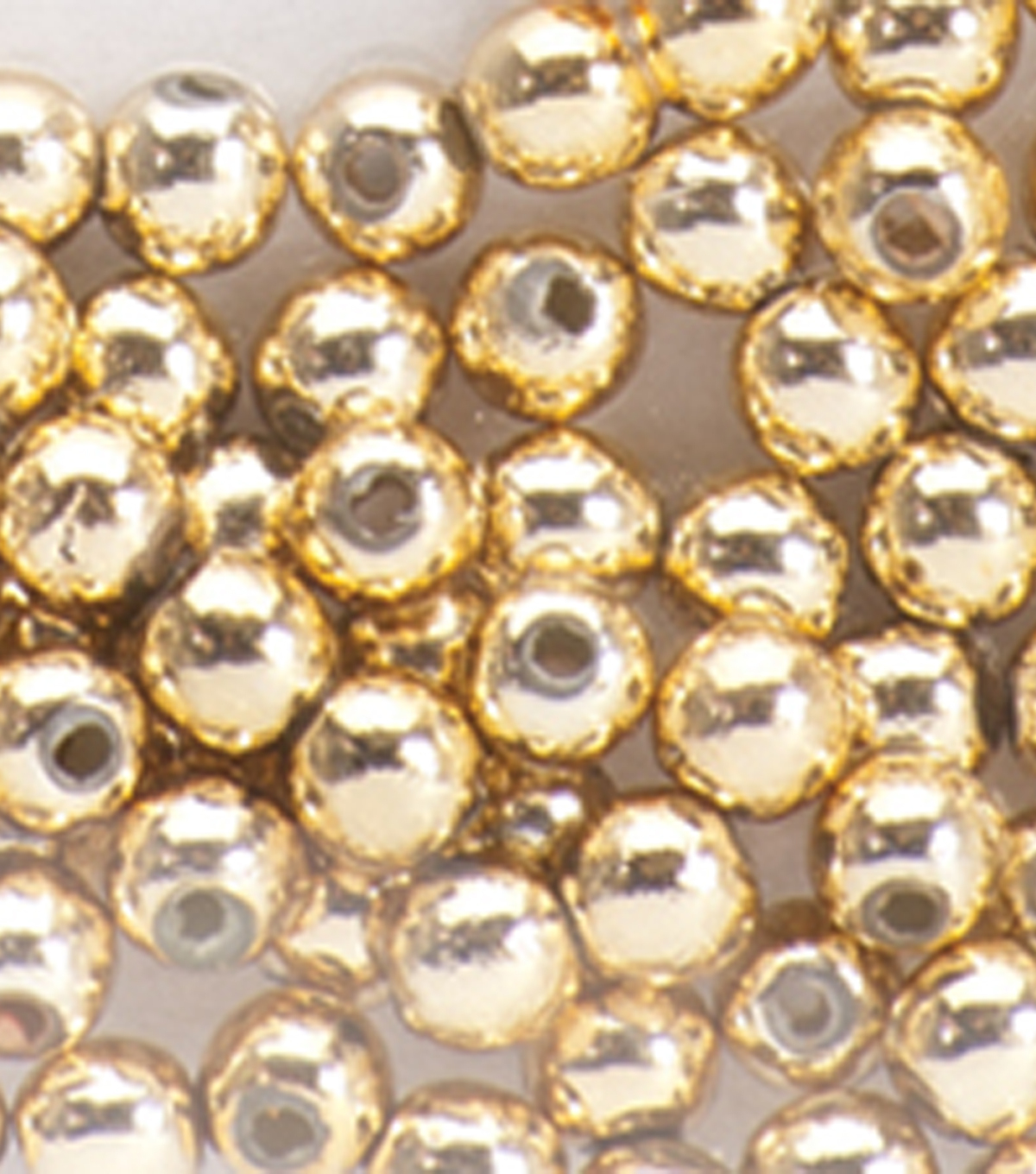 Darice Round Pearl Beads 3mm 144/Pkg-Gold