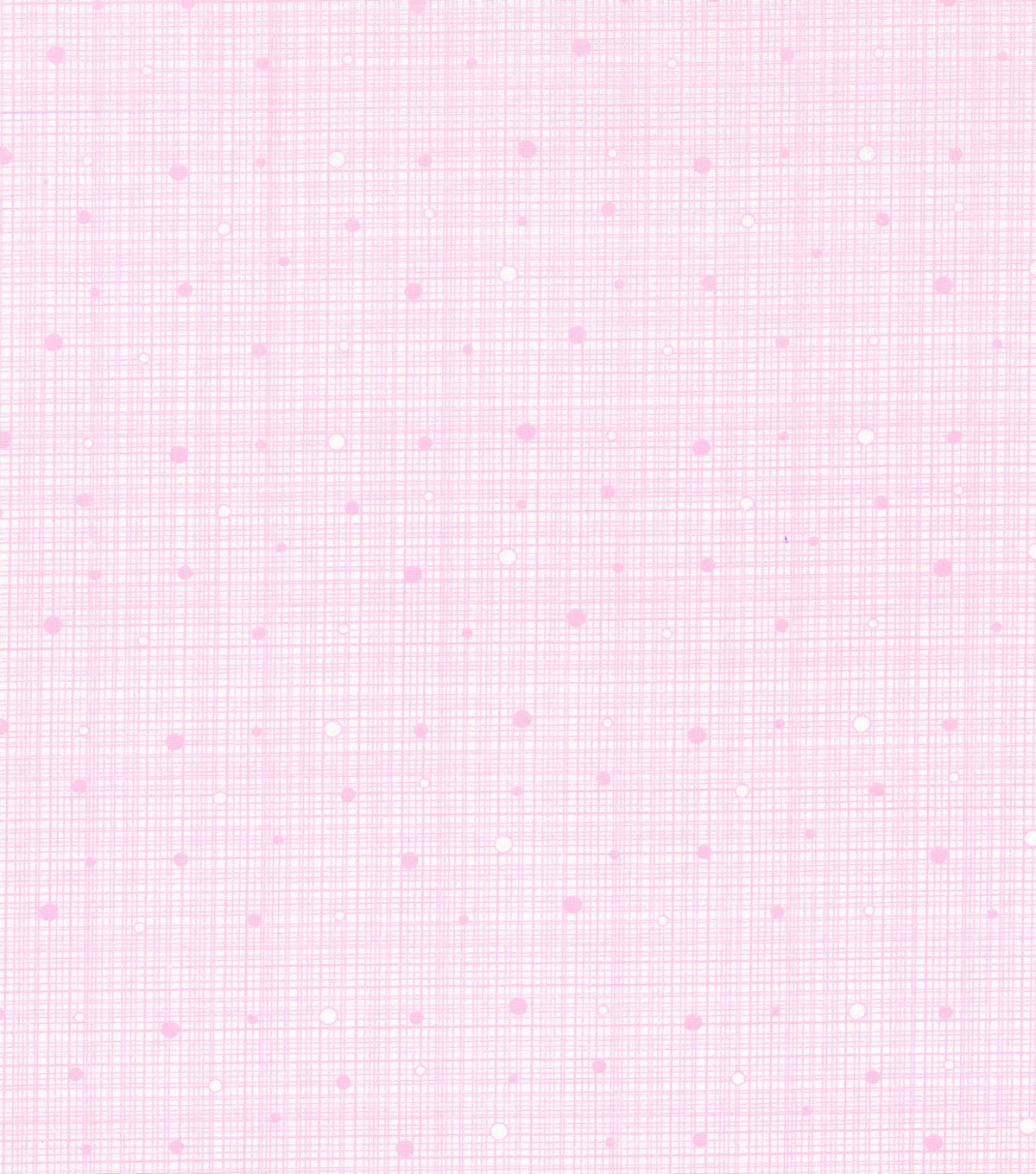 Keepsake Calico™ Cotton Fabric 43\u0022-Grid Pink with Dots