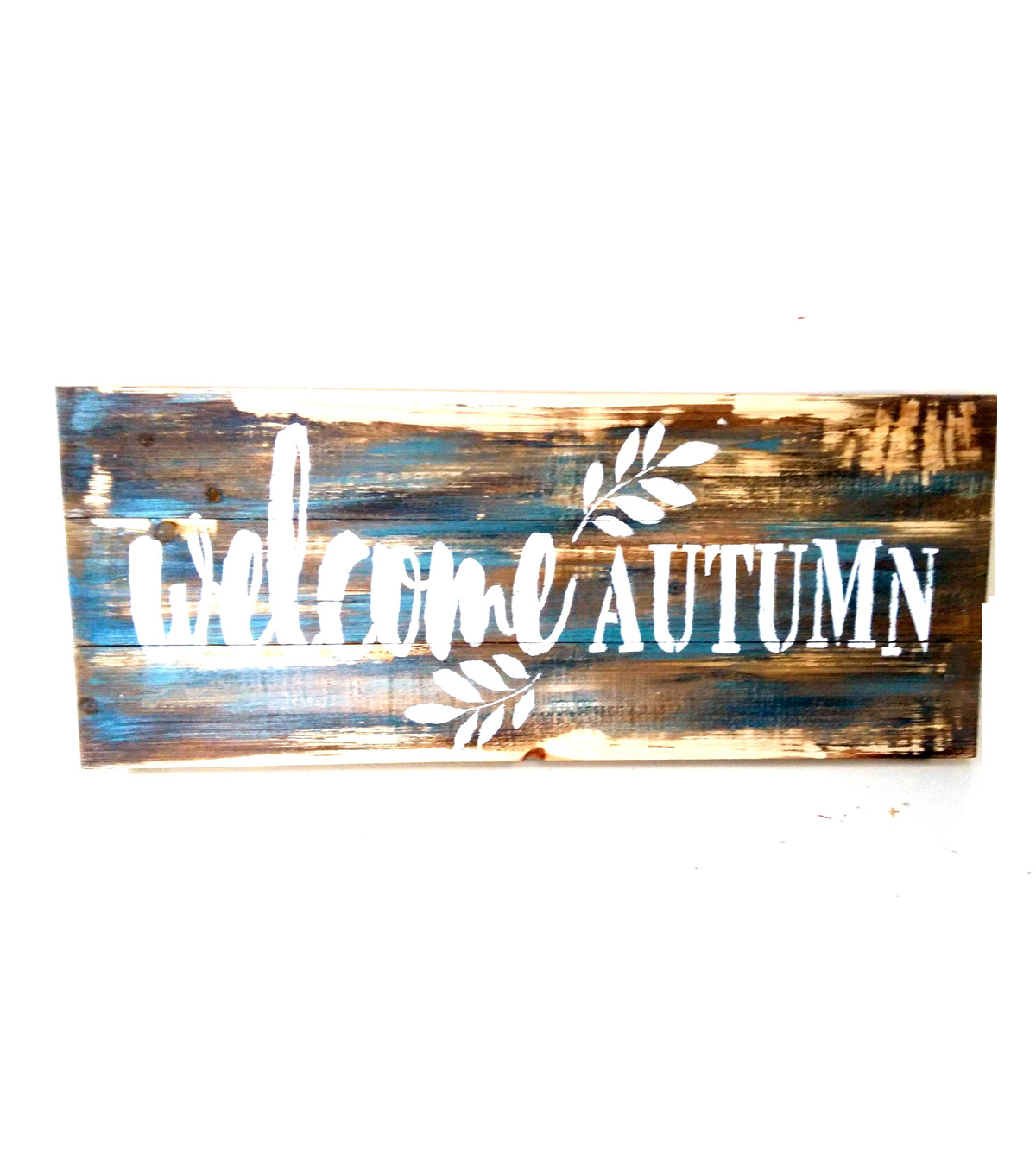 Fall Into Color Wood Welcome Autumn Wall Decor